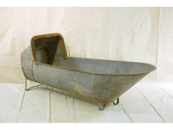 Cowboy Bath | 498A: Galvanized Cowboy Bathtub