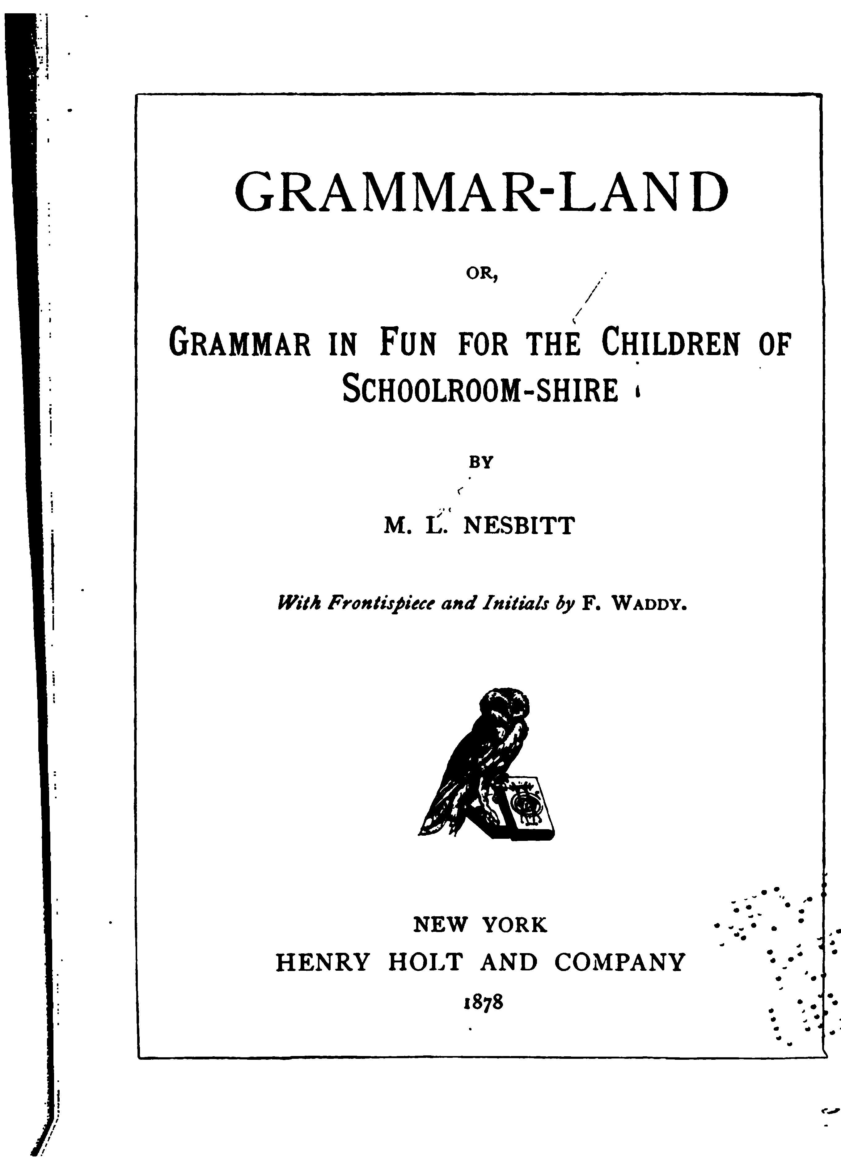 Waldorf ~ 4th grade ~ Grammar ~ Grammar-land Book ~ free online ~ Worksheets