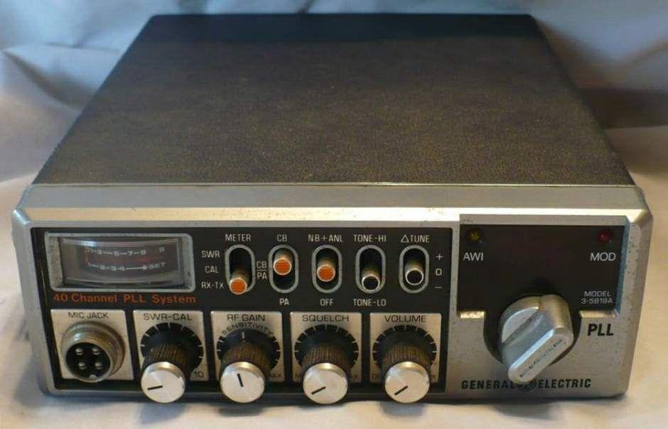 Radiopics Database Cb Radio General Electric 3 5819a Cb Radio General Electric Radio