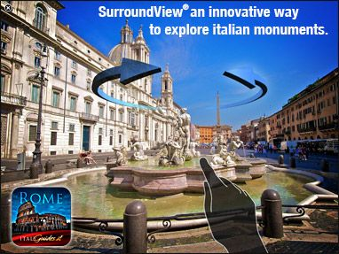 Interactive view of the Fountain of the Moor in Piazza Navona, Rome