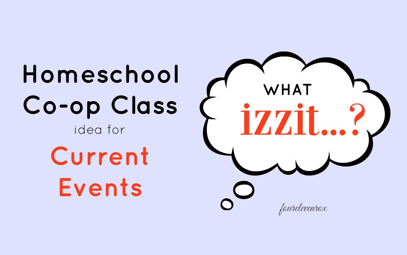 Four Eleven Rox Homeschool Co Op Class Idea For Middle