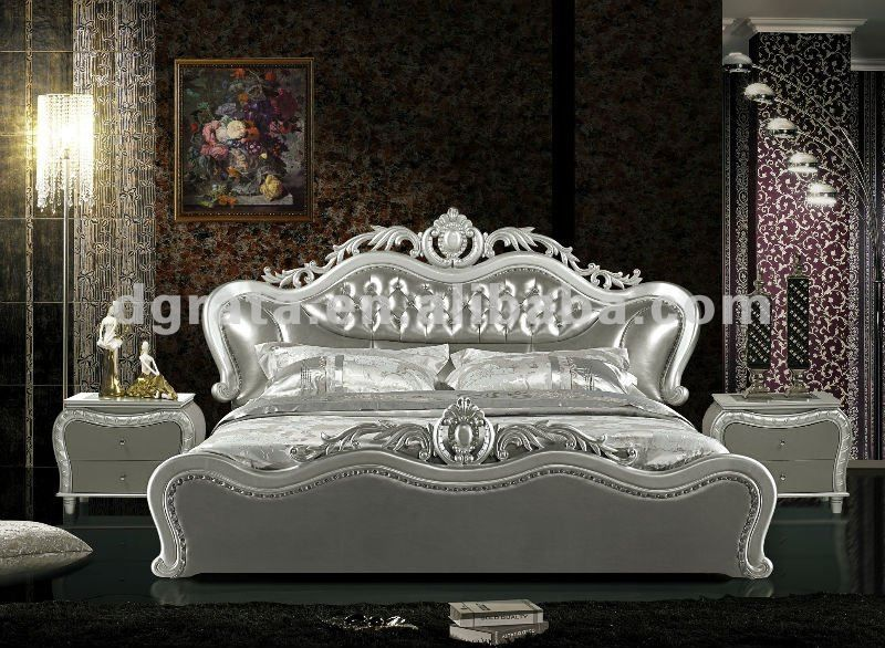 2012 nuevo dise o elegante cama doble con cuero genuino y - Sofas elegantes diseno ...