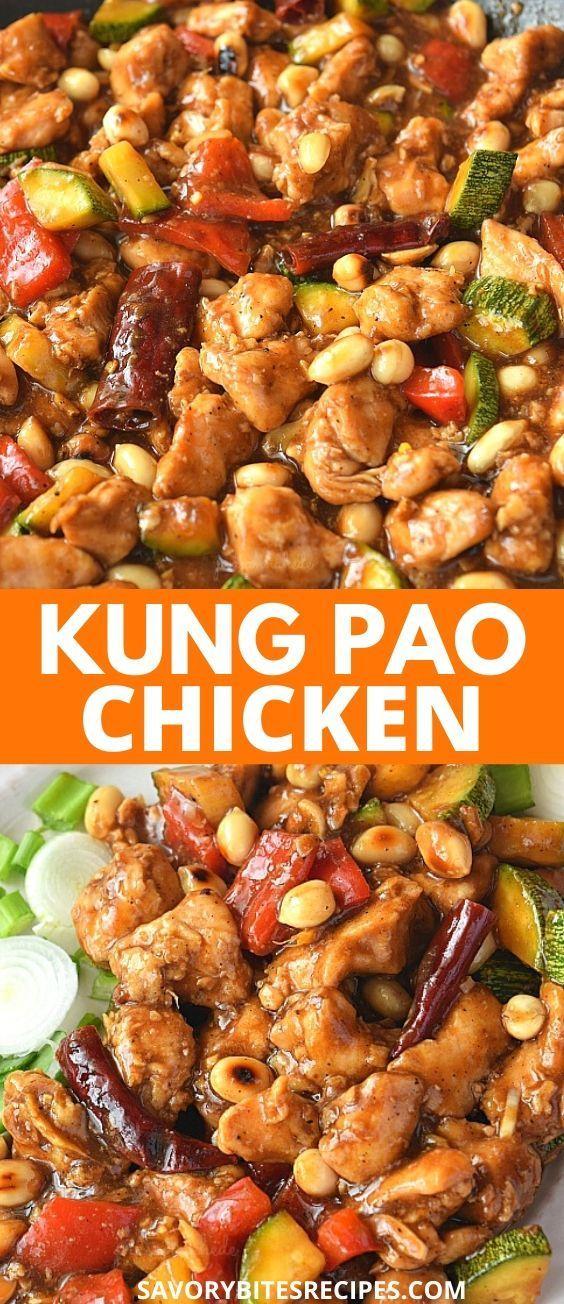 Best and easy Kung Pao Chicken Recipe- Panda Express Copycat   #savorybitesrecipes #kungpaochicken #chicken #chinese #takeoutmenu #dinnerrecipes