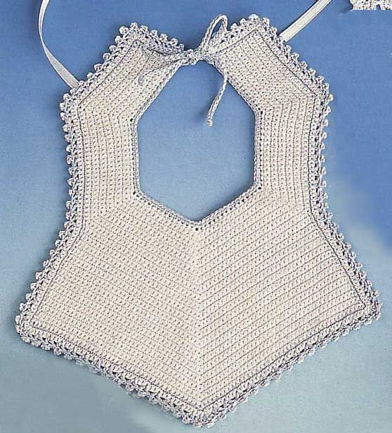 como tejer baberos a crochet