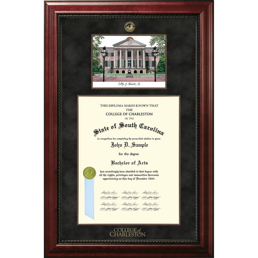 College Of Charleston Executive Campus Image And Diploma Frame Diploma Frame College Of Charleston Campus Images