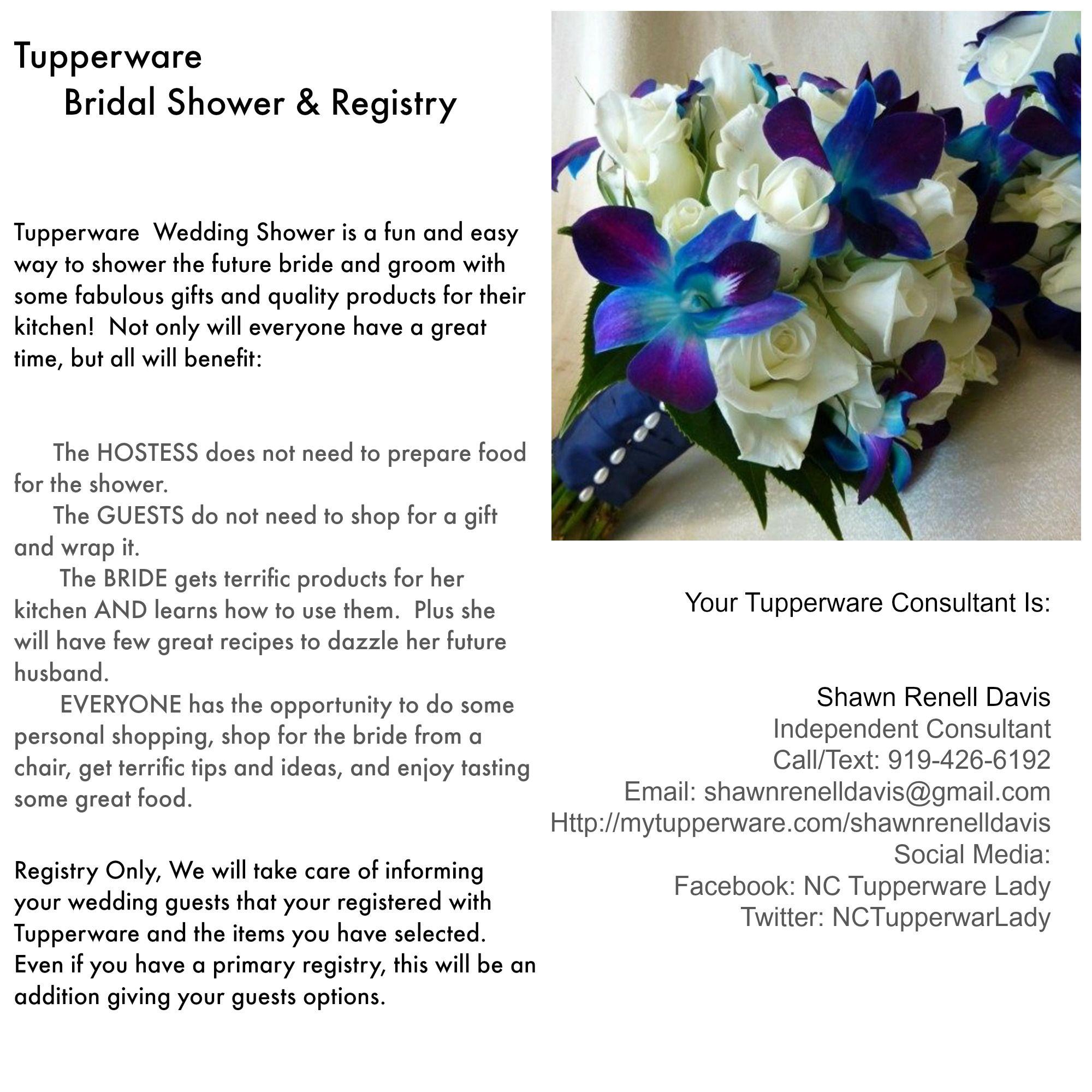 tupperware bridal shower registry brides