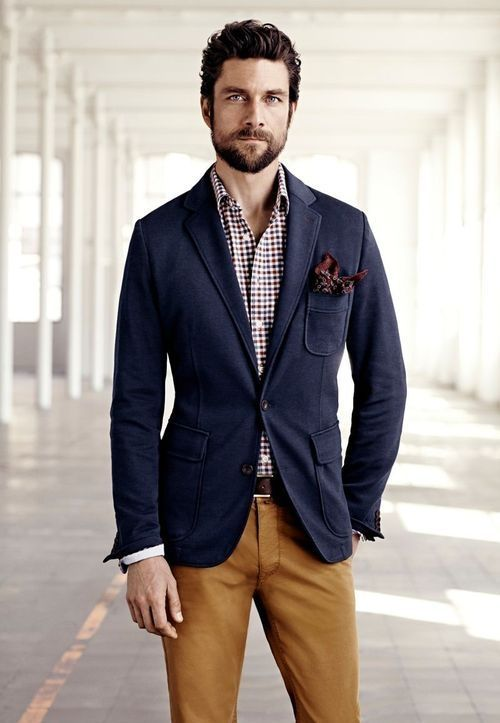 Incoorporate fall colors into your wardrobe as the weather gets colder Navy  Blazer Men dfe33731afa