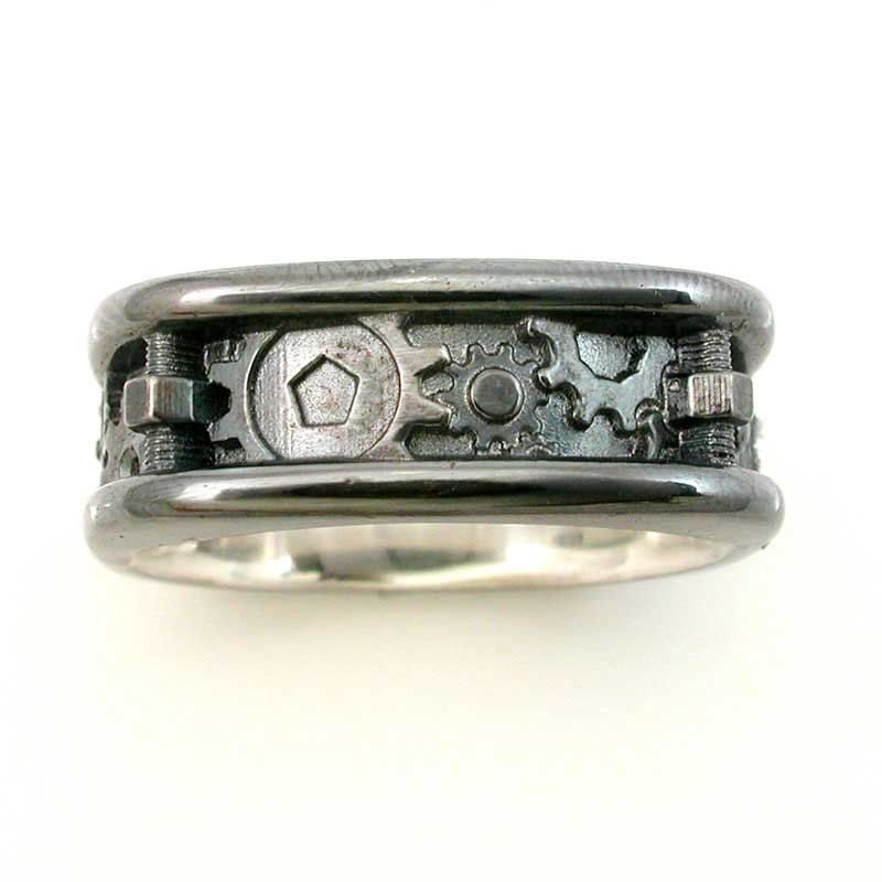 Mens Steampunk Nuts Bolts Ring 225 My Style Pinterest Rings
