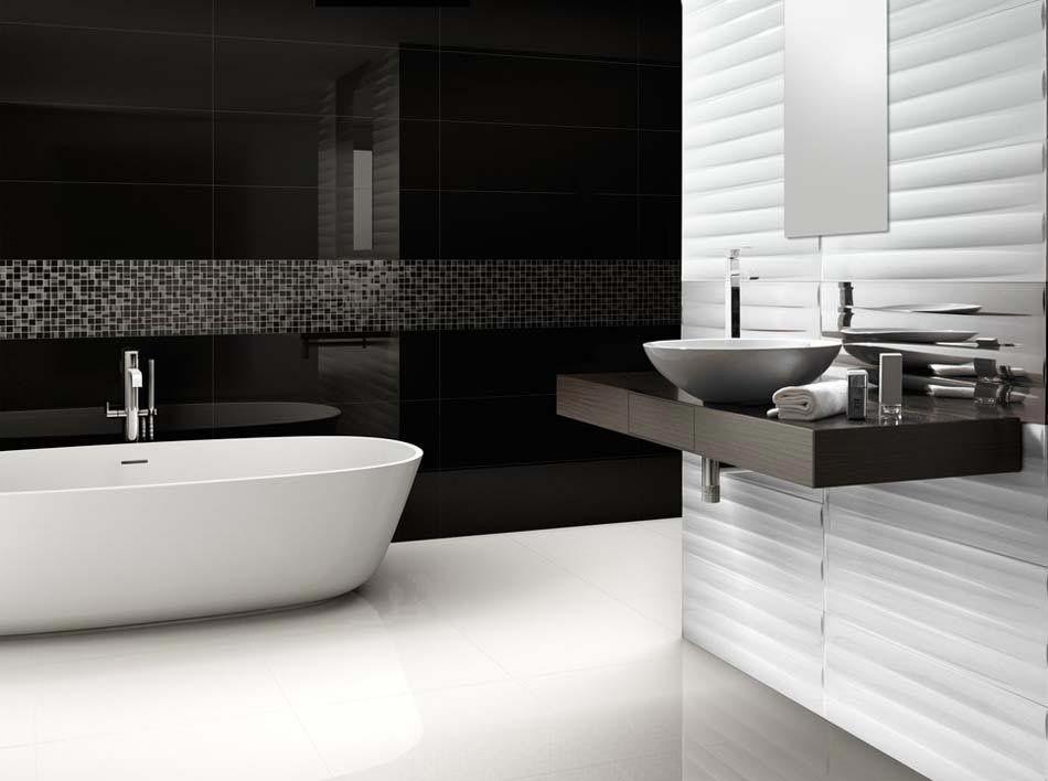 Stunning Salle De Bain Moderne Blanc Et Noir Photos - lalawgroup ...