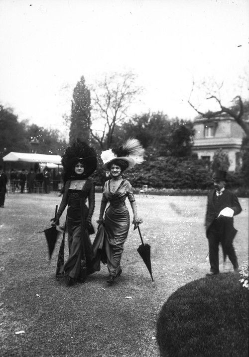 Sunday 10th of May 1908 at the Longchamp racecourse. A fashionably dressed crowd has gathered for this important date in the Parisian social calendar.  Suddenly a furore breaks out as three beautiful models enter the enclosure – for beneath their exquisite and exceptionally clinging gowns they appear to be wearing – nothing! To add to the shock value, their dresses are split to the knee, revealing a glimpse of leg, barely disguised by the lightest of muslin coverings.