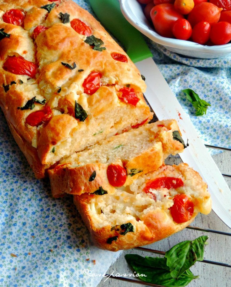 Salty Plumcake cheese and tomatoes / Plumcake salato provola e pomodorini #pomodoro #ricetta #recipes #tomato #recipe #italianrecipe
