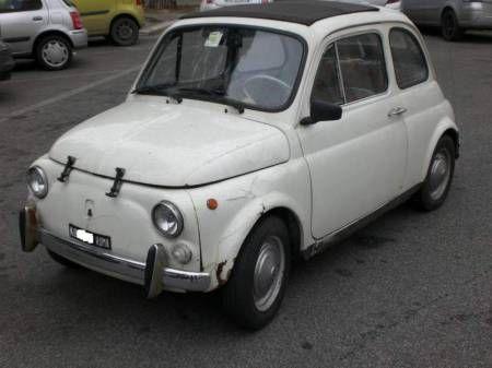 la prima auto, fiat 500 bianca