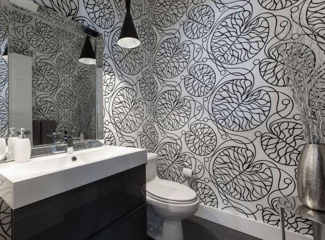 Vliestapete Badezimmer ~ Vliestapeten für badezimmer schwarz weiße abstrakte muster