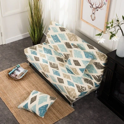 160190cm Armless Stretch Folding Seat Sofa Bed Slipcover