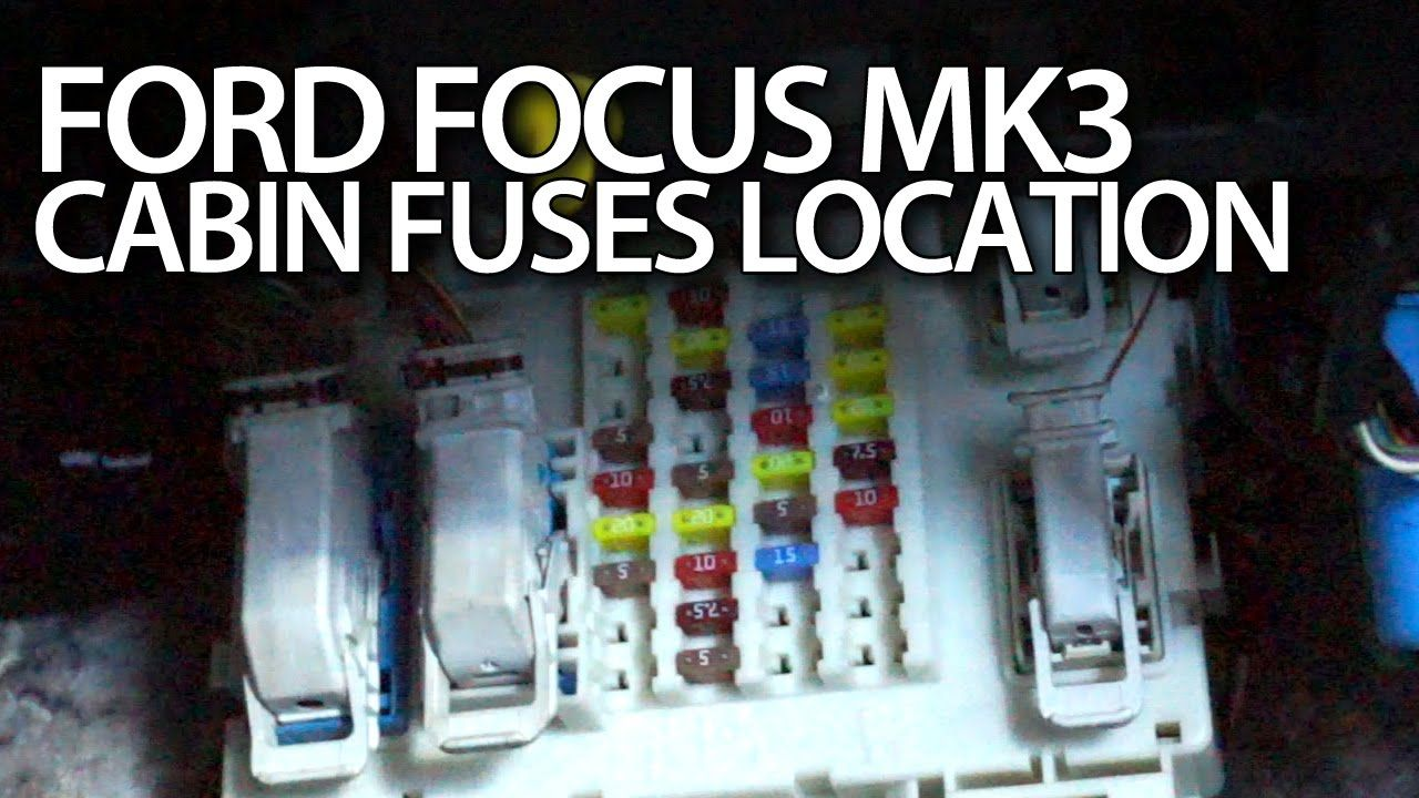 where are fuses in ford focus mk3 cabin fusebox and gem module location cars [ 1280 x 720 Pixel ]