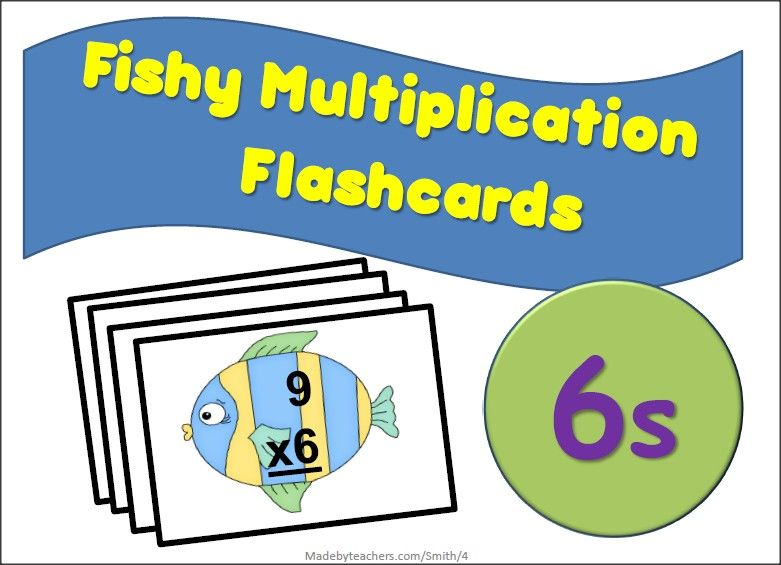 Free Flash Cards For Multiples of 6 | Fot My Boys /Math | Pinterest ...