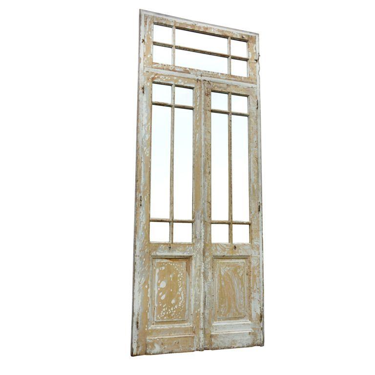 Mirrored Primitive Painted Wood Door  sc 1 st  Pinterest & Mirrored Primitive Painted Wood Door   Wood doors Primitives and Doors