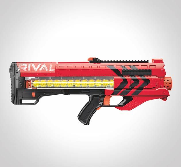 Nerf War it is. Dominate your opponent with the Nerf Rival Zeus Blaster  ($50.00