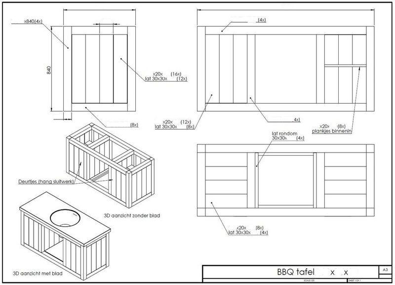 Hardware diy deze bbq er ook een nieuwe tafel voor for Bbq tafel maken