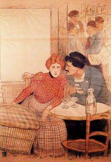 Young Bohemia: Picasso in Paris 1900-1907 Part I - In The Tavern by Theophile-Alexandre Steinlen, 1900.