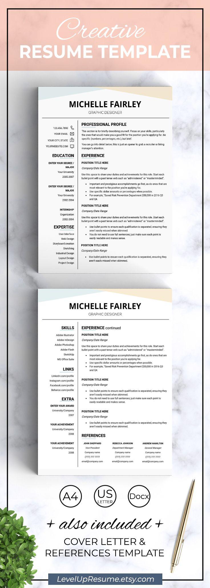 Modern Resume Template Resume Design Career Advice Job Search