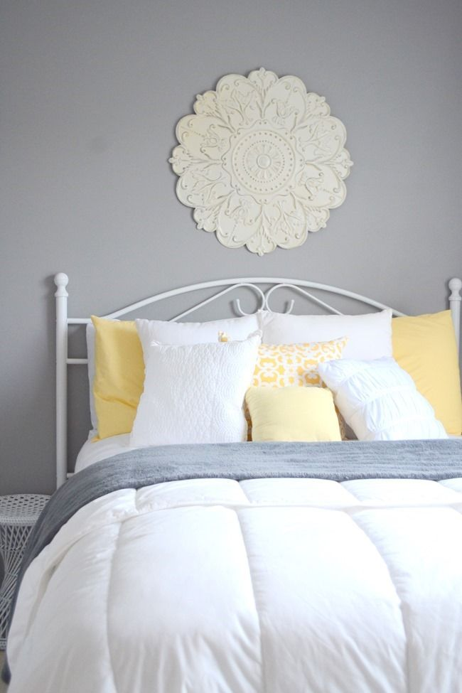Guest Bedroom Gray White And Yellow Guest Bedroom Small Guest