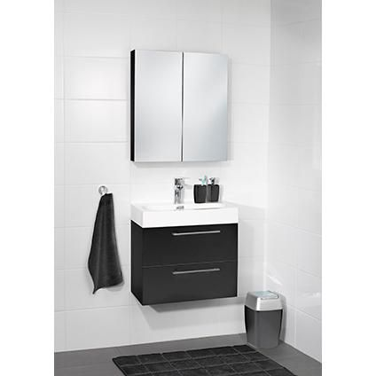 The Collection onderkast Shallow zwart 60cm   Praxis   mijn badkamer ...