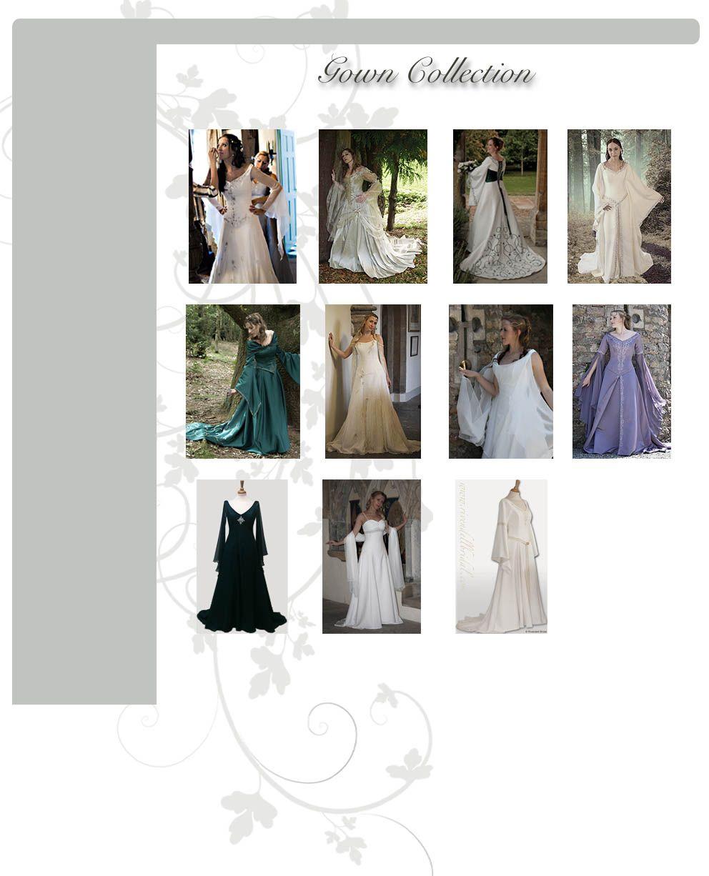 Celtic wedding dress  Medieval wedding dresses Fairy u Celtic wedding dresses by