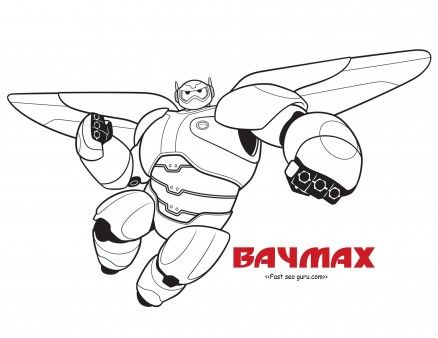 Free Printable Bighero6 Baymax Coloring Pages For Kidsprint Out Disney Characters Big