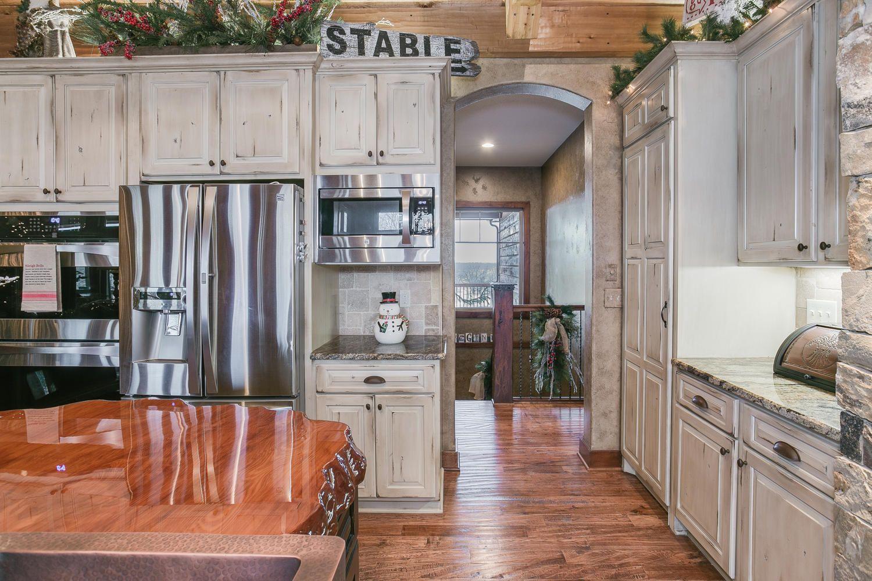 123 Anywhere St Wichita Ks 67201 Usa Lake House Kitchen Kitchen Distressed Kitchen Cabinets