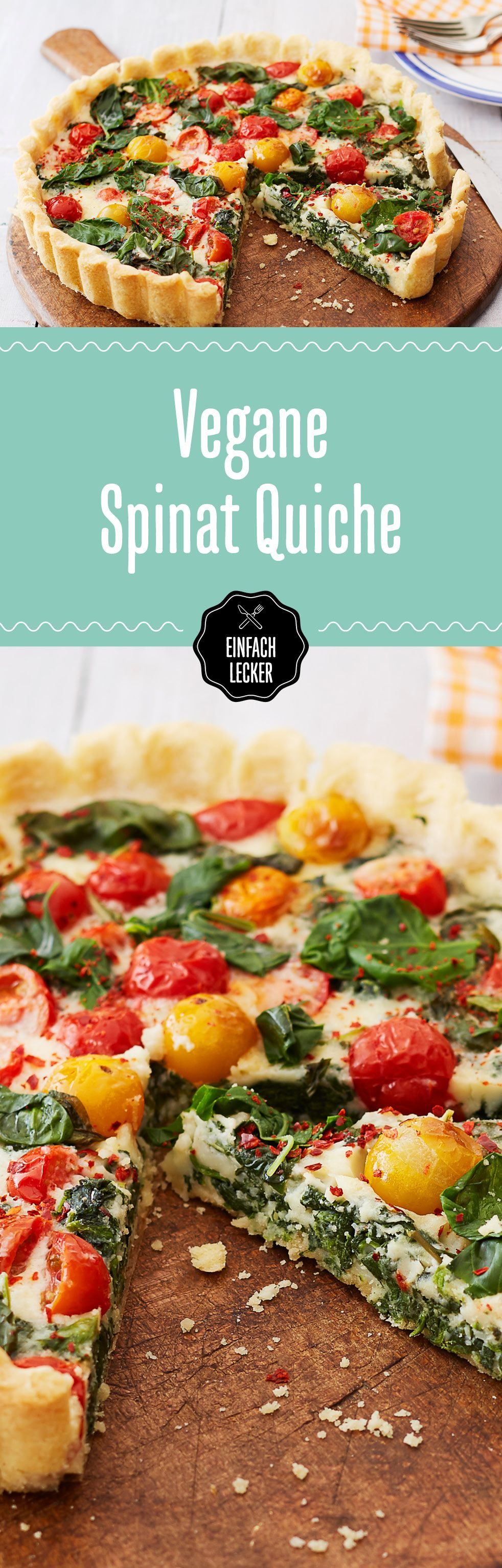 Vegane Spinat Quiche #diet