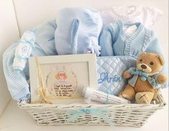 Canasta Para Bebe Recien Nacido.Canastilla Angel De La Guarda Cesta Para Bebe Canastilla