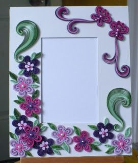 Let   create decorated foam board photo frame also quilling rh pinterest