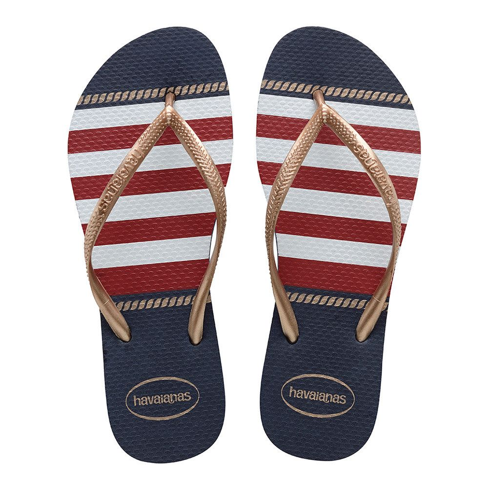 official photos 06c14 3b619 Havaianas Slim Nautical Navy Blue Infradito Price From: 14 ...