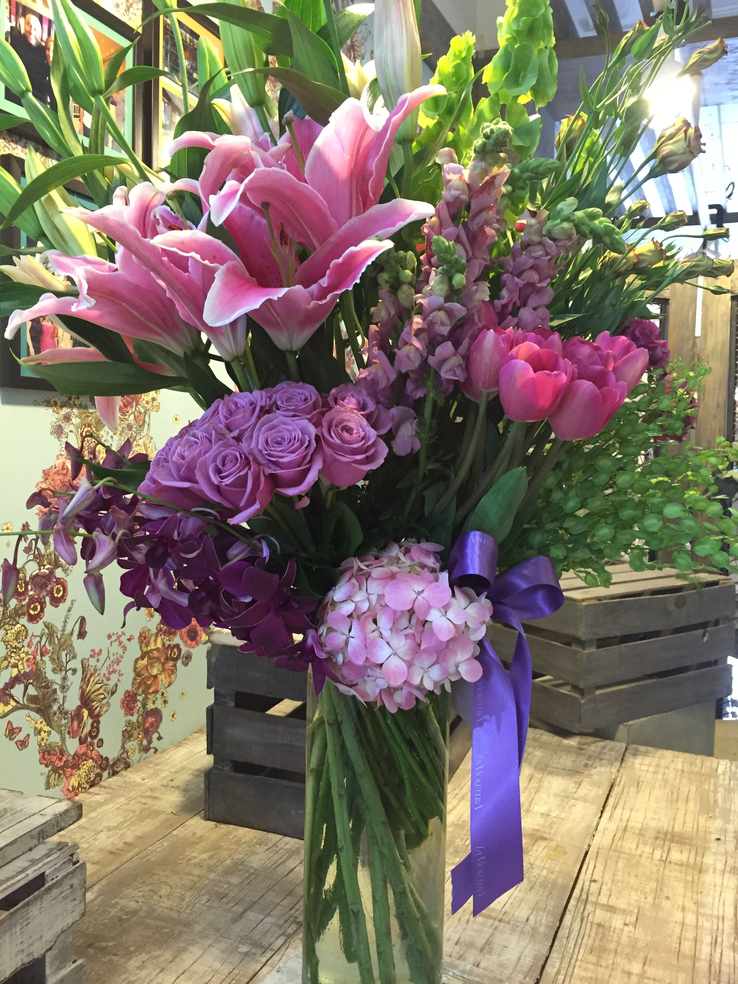 Arreglo Floral El Lilas Y Morados Arreglos Florales