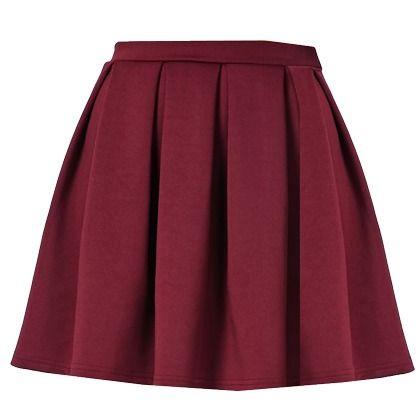 Mini jupe d'écolière! 13,00€ ici: http://stylefru.it/s537123 #jupe #rouge