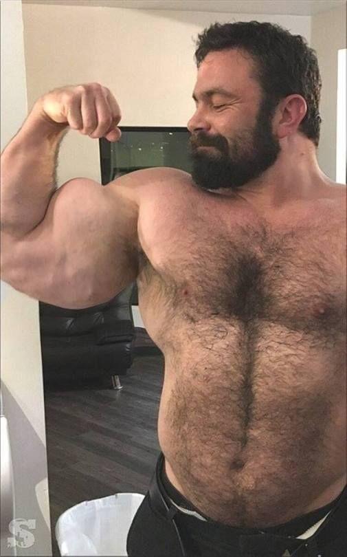Muscle bear man