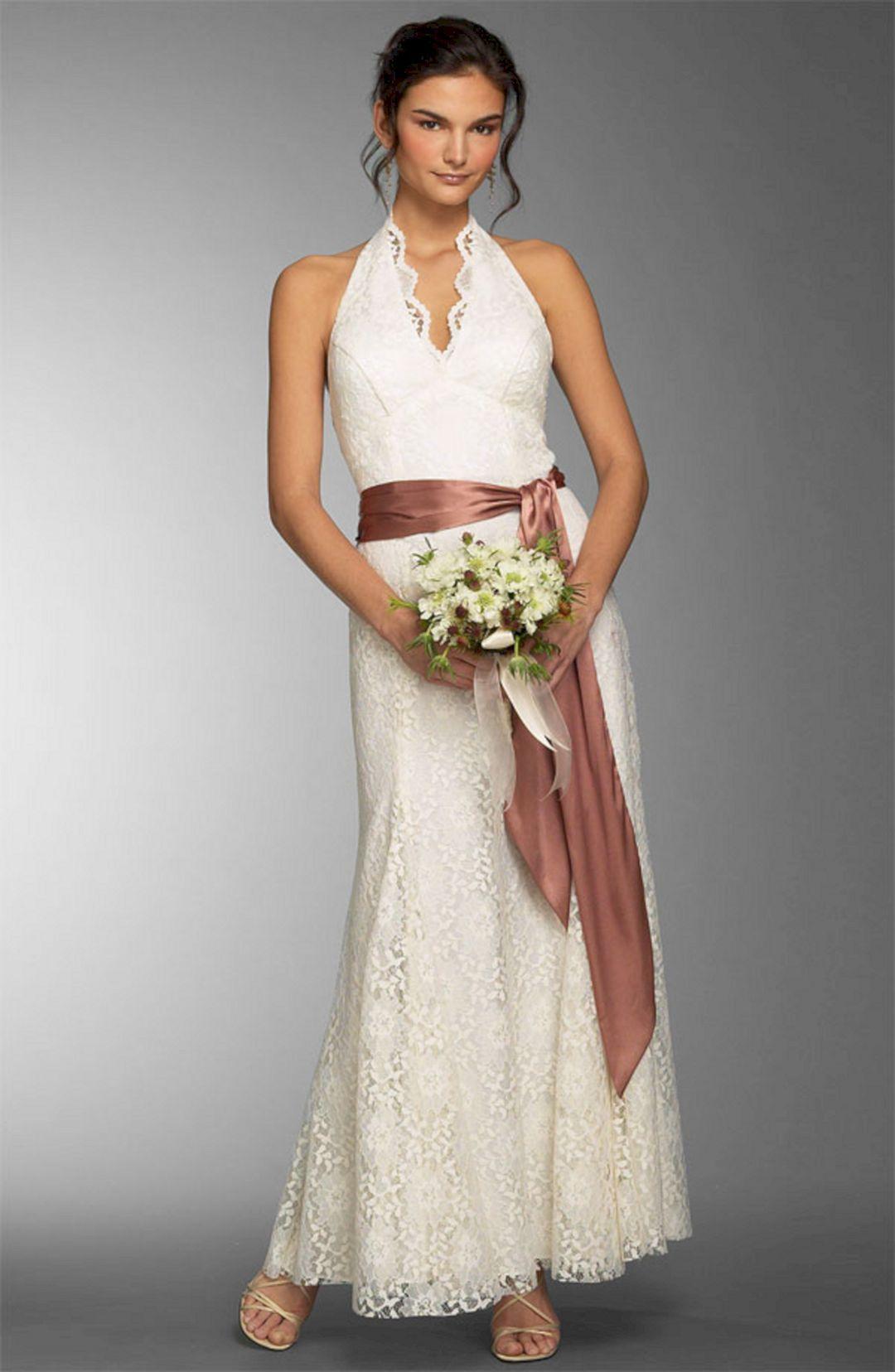 Gloomy beautiful summer casual wedding dresses ideas