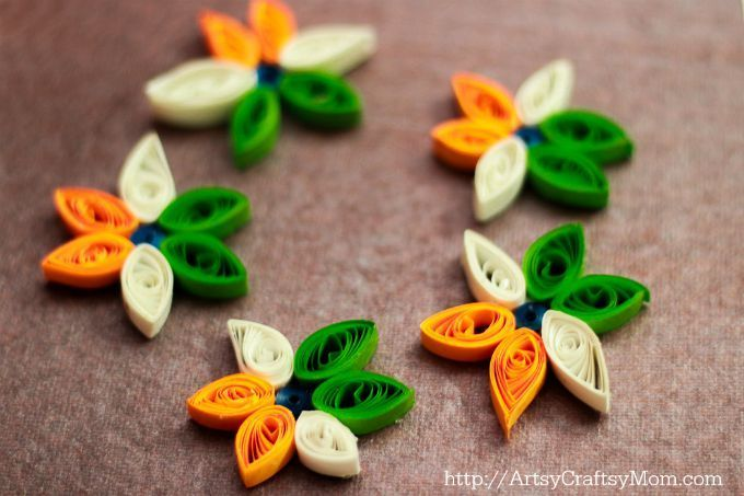 Card Making Ideas Independence Day Part - 32: Presenting - 10+ Tricolor Paper Quilling Ideas For Indiau0027s Independence Day  - Tricolor Cards,