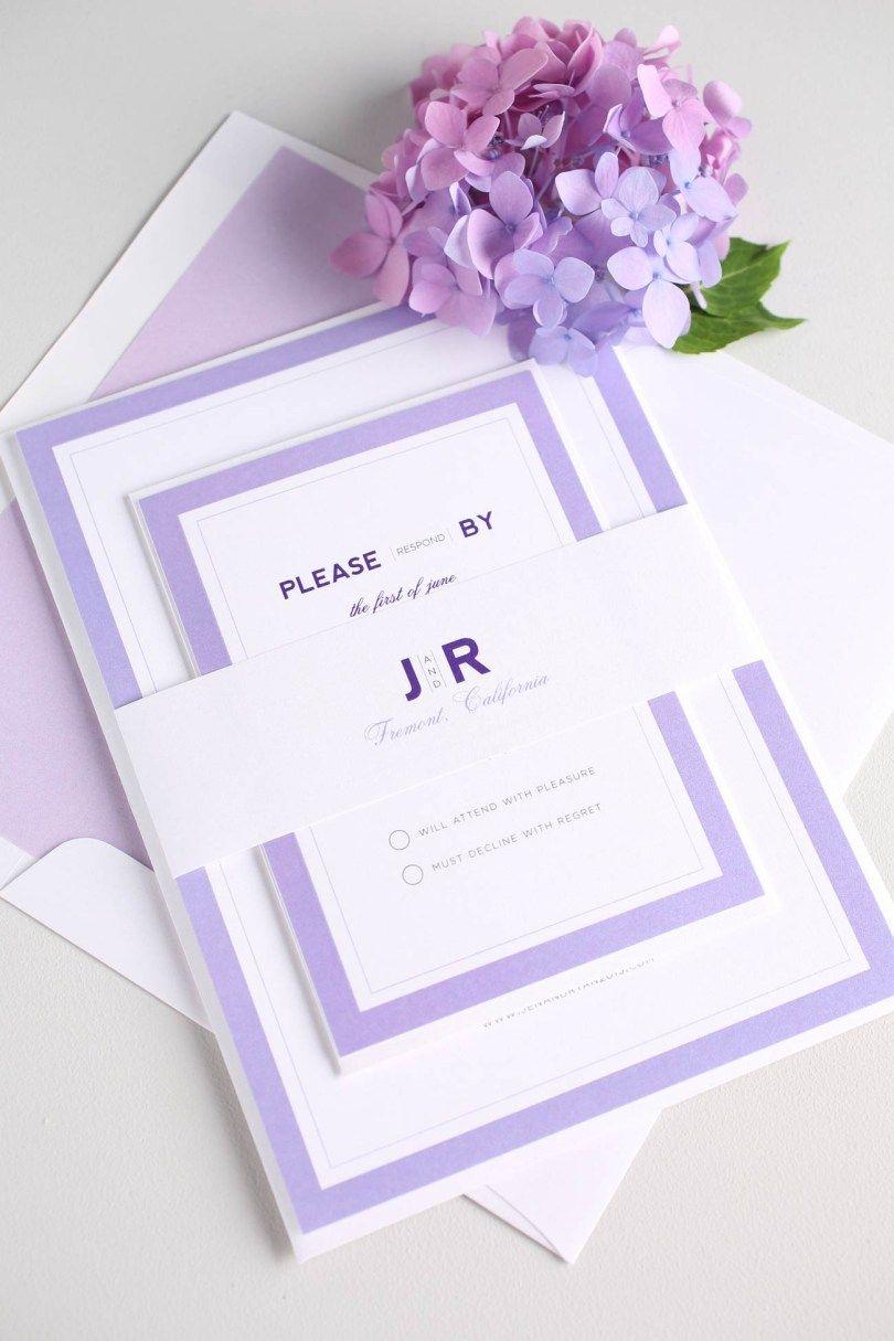 32 Inspired Photo Of Wedding Invitations Purple Purple Wedding