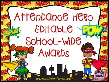 Attendance Hero Editable Award Certificates  Attendance