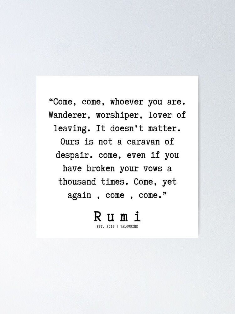 42  |  Rumi Quotes | 190921 Poster by QuotesGalore