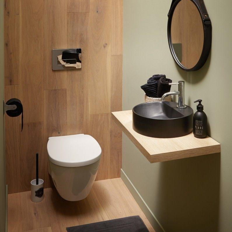 Les WC et lave-mains dans un espace zen salle de bain Pinterest