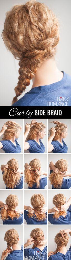 Tutorial zur Frisur mit geschweiften Seitengeflechten - #frisur #geschweiften #seitengeflechten #tutorial - #new #sidebraidhairstyles