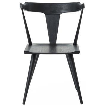Best Tenly Mid Century Modern Black Oak Barrel Back Dining 400 x 300