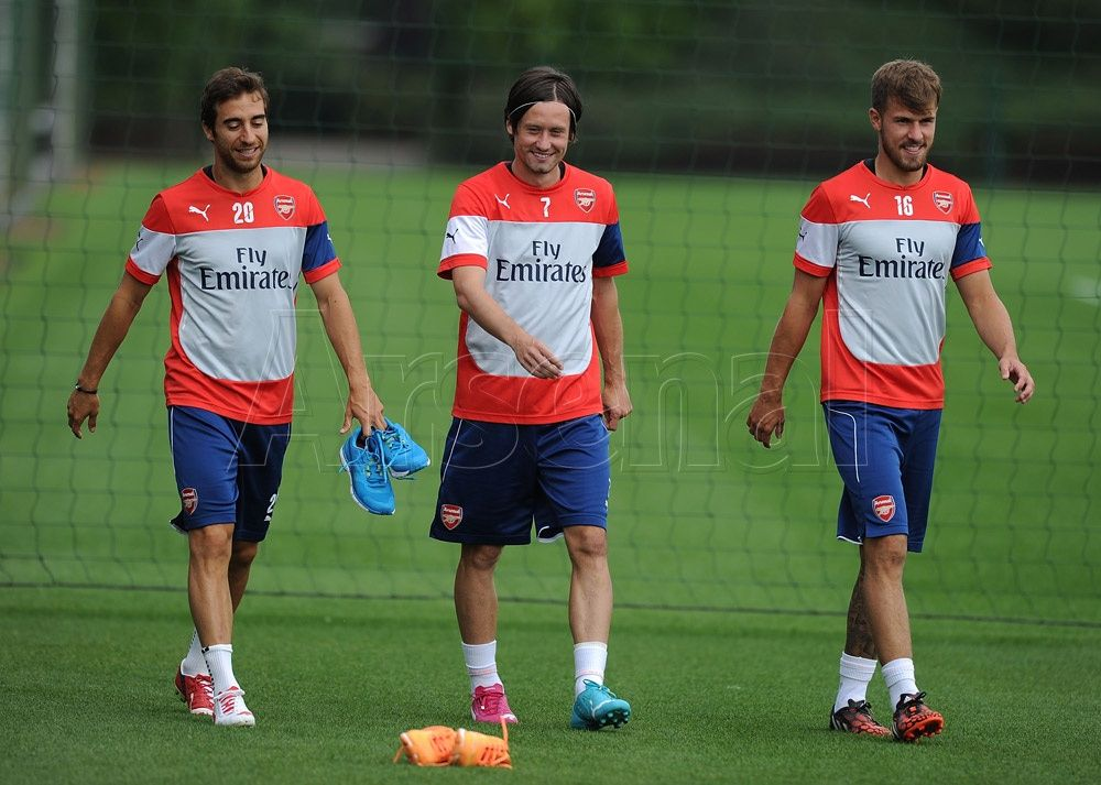 Pictures: Wilshere and Ox in training   News Archive   News   Arsenal.com