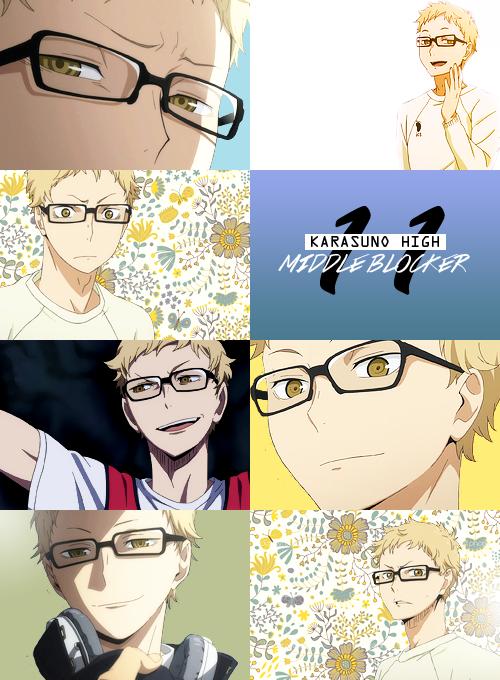 Tsukishima (Haikyuu) | Characters | Haikyuu, Anime