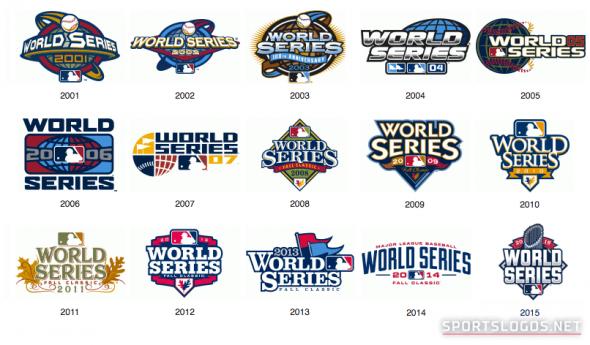2001 2015 World Series Logos Sports Stuff Mlb Postseason