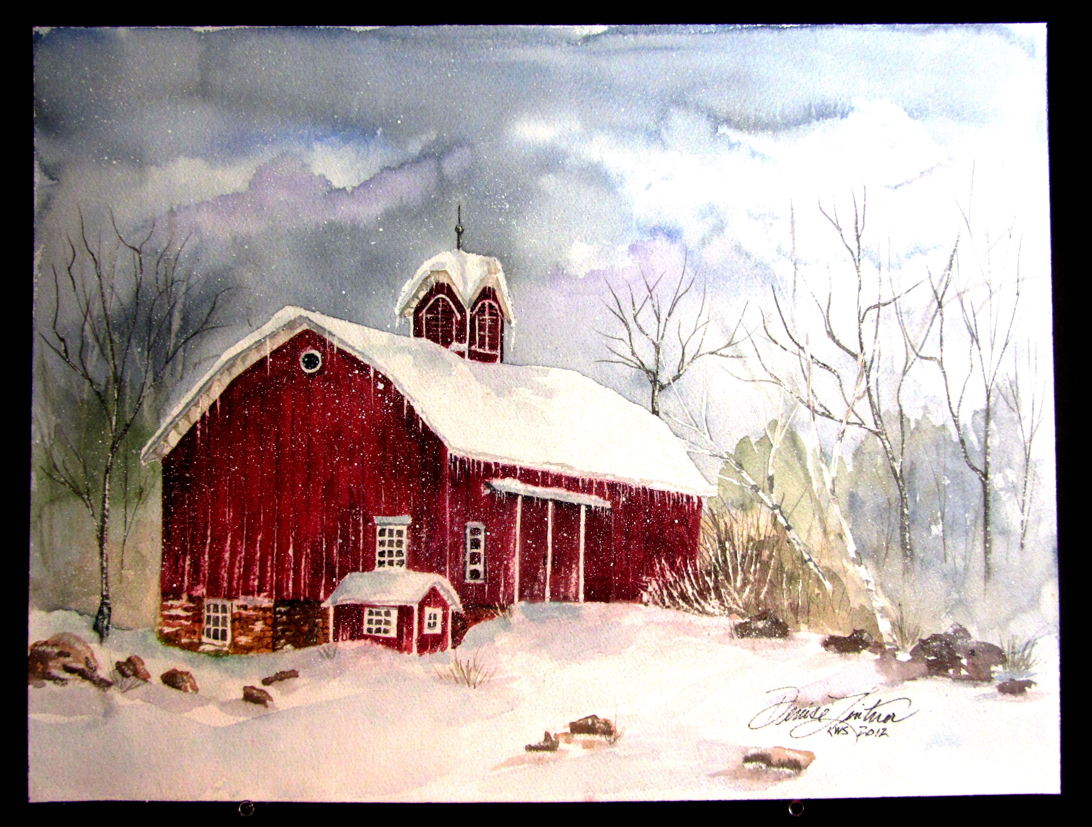 """Watercolor from the """"Barn"""" collection by Denise Lintner, Artist (Taylor Mill Kentucky)"""