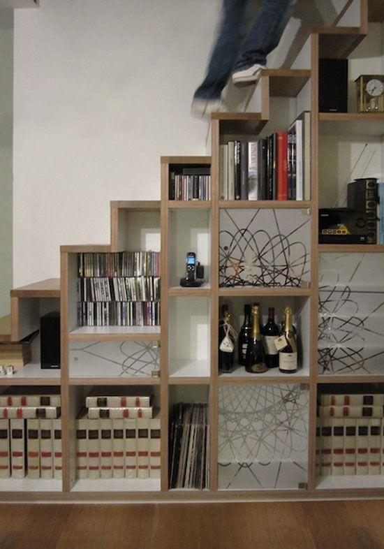 rangement escalier deco stairs escaliers pinterest rangement escalier escaliers et. Black Bedroom Furniture Sets. Home Design Ideas